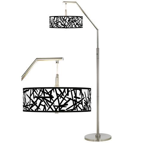 Sketchy Giclee Shade Arc Floor Lamp