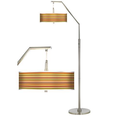 Stacy Garcia Harvest Stripe Giclee Shade Arc Floor Lamp