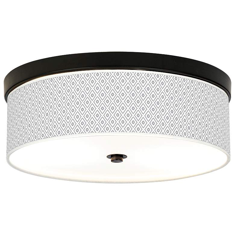 Diamonds Giclee Energy Efficient Bronze Ceiling Light