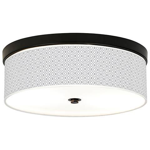 Diamonds Giclee Energy Efficient Bronze Ceiling Light