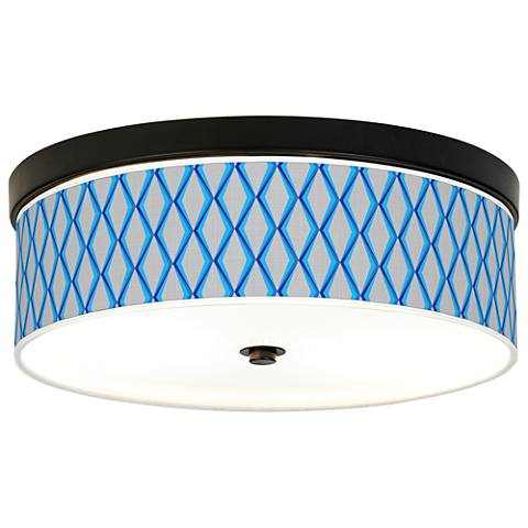 Bleu Matrix Giclee Energy Efficient Bronze Ceiling Light