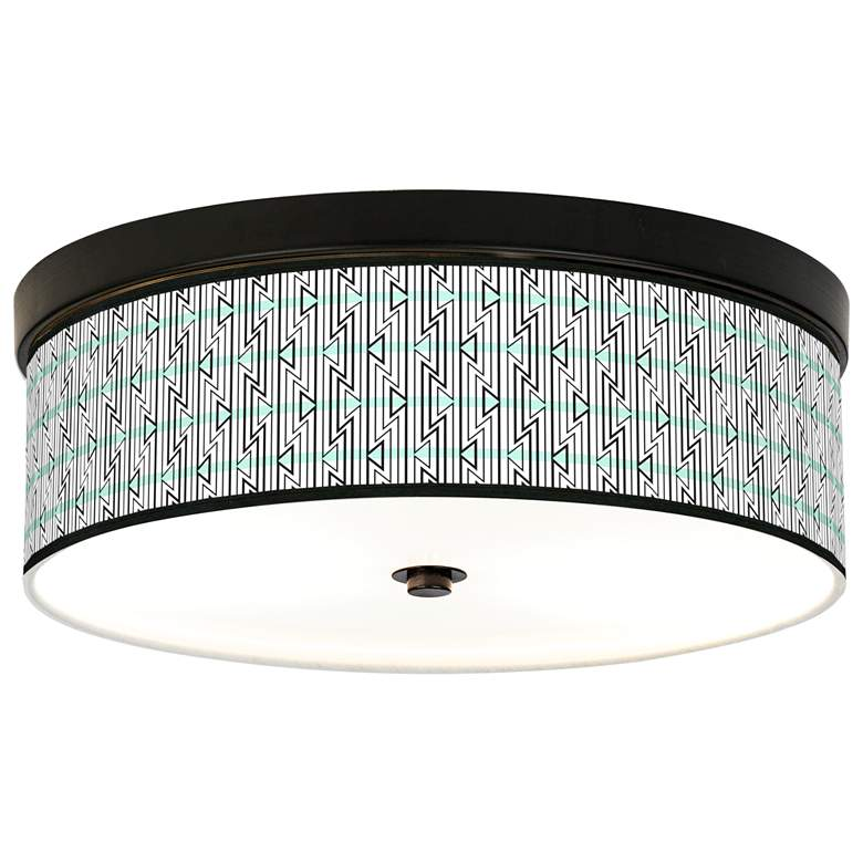 Indigenous Giclee Energy Efficient Bronze Ceiling Light