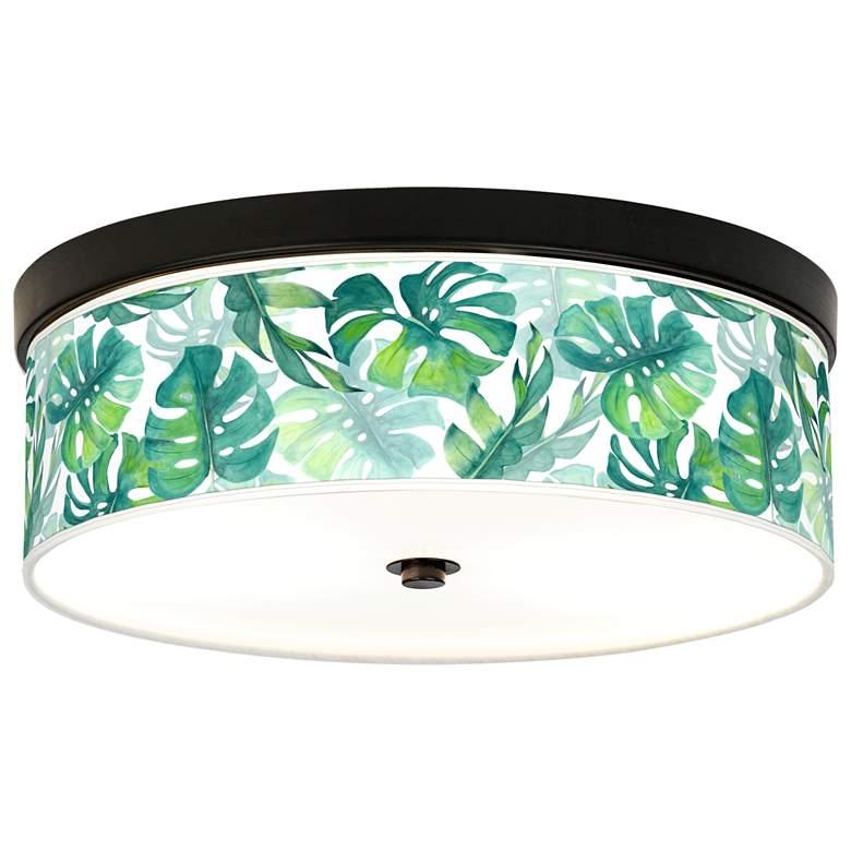Tropica Giclee Energy Efficient Bronze Ceiling Light