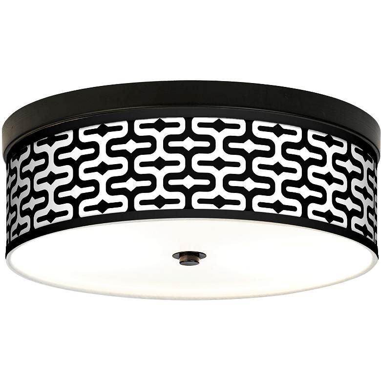 Reflection Giclee Energy Efficient Bronze Ceiling Light