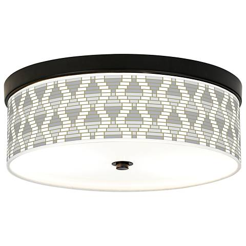 Stepping Out Giclee Energy Efficient Bronze Ceiling Light