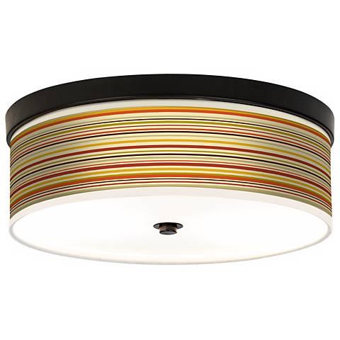 Stacy Garcia Lemongrass Stripe CFL Bronze Ceiling Light