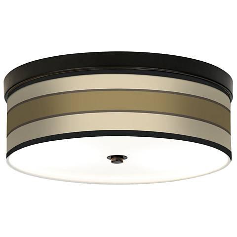 Tones of Beige Giclee Bronze CFL Ceiling Light