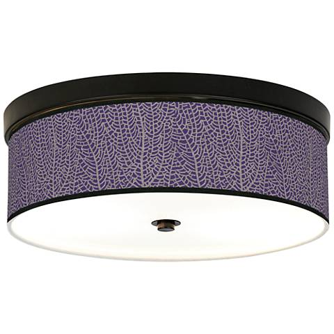 Stacy Garcia Seafan Rich Plum Bronze CFL Ceiling Light
