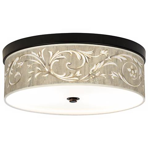 Laurel Court Giclee Energy Efficient Bronze Ceiling Light