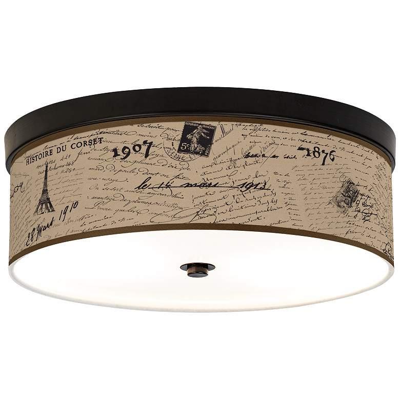 Letters To Paris Linen Giclee Energy Efficient Ceiling Light