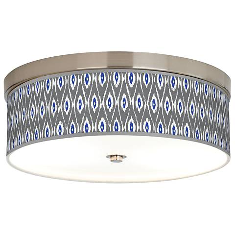 American Ikat Giclee Energy Efficient Ceiling Light