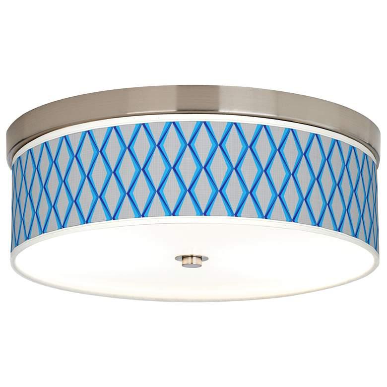 Blue Matrix Giclee Energy Efficient Ceiling Light