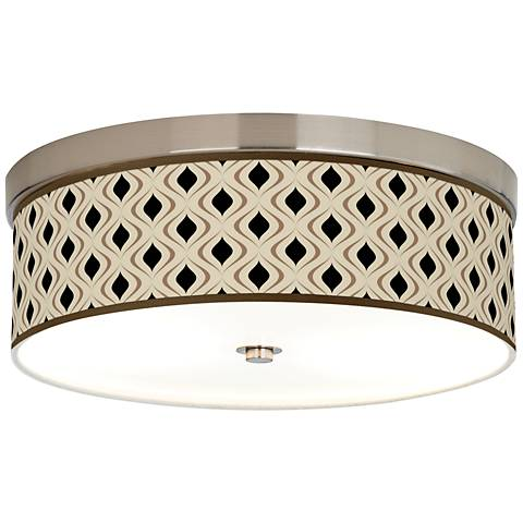 Gray Retro Lattice Giclee Energy Efficient Ceiling Light