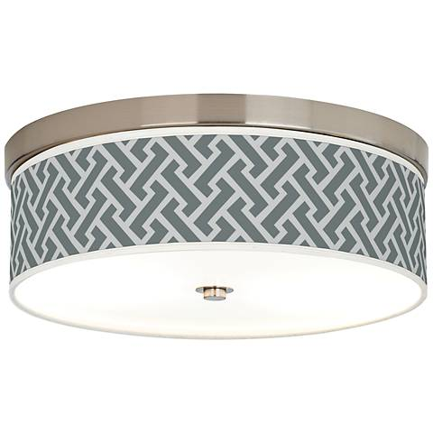 Smoke Brick Weave Giclee Energy Efficient Ceiling Light