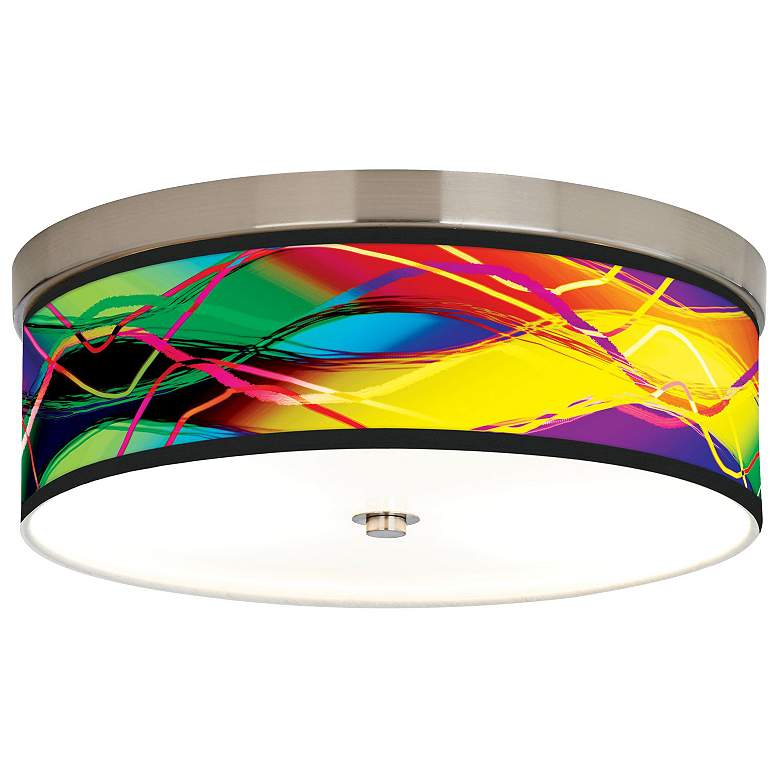 Colors in Motion Light Giclee Energy Efficient Ceiling Light