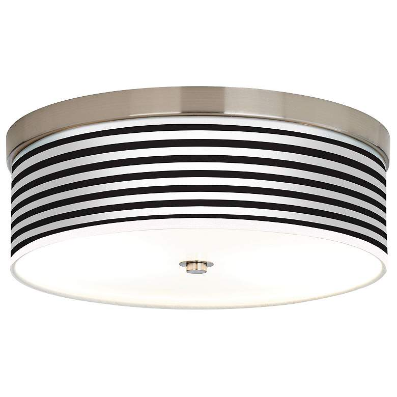 Black Horizontal Stripe Giclee Energy Efficient Ceiling Light