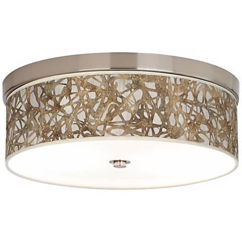 Organic Nest Nickel Energy Efficient Ceiling Light