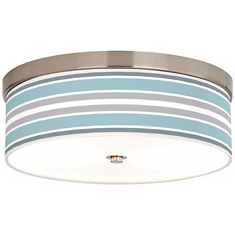 Multi Color Stripes Giclee Energy Efficient Ceiling Light