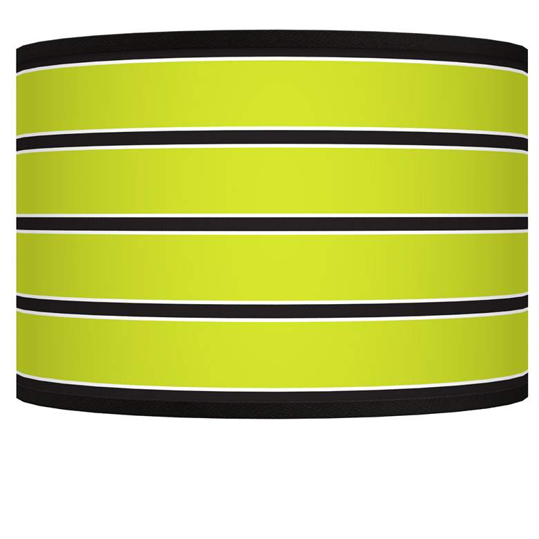 Bold Lime Green Stripe Giclee Shade 12x12x8.5 (Spider)