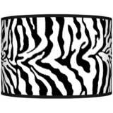 Safari Zebra Giclee Shade 12x12x8.5 (Spider)