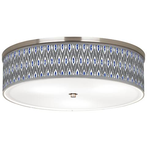 "American Ikat Giclee Nickel 20 1/4"" Wide Ceiling Light"