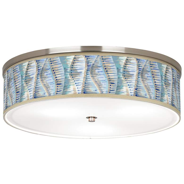 "Siren Giclee Nickel 20 1/4"" Wide Ceiling Light"