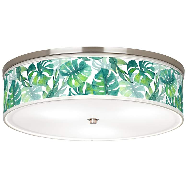 "Tropica Giclee Nickel 20 1/4"" Wide Ceiling Light"