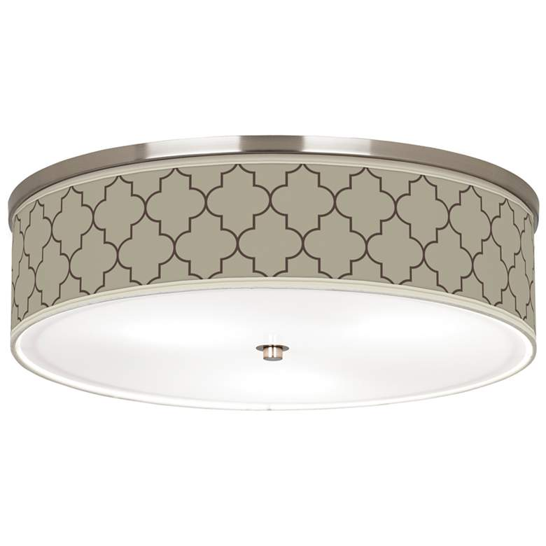 """Tangier Taupe Giclee Nickel 20 1/4"""" Wide Ceiling Light"""