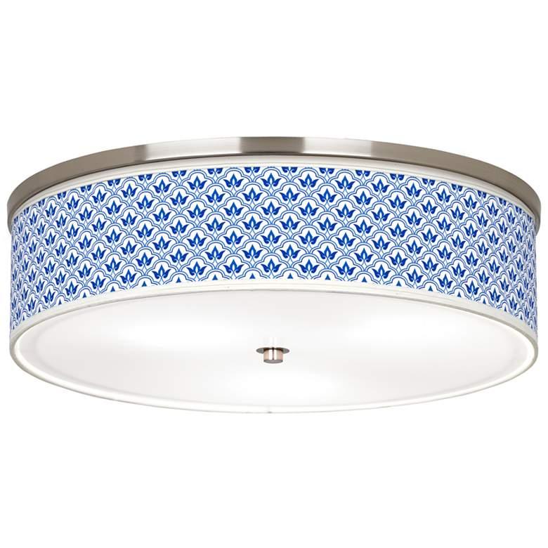 "Arabella Giclee Nickel 20 1/4"" Wide Ceiling Light"
