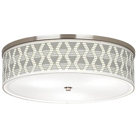 """Stepping Out Giclee Nickel 20 1/4"""" Wide Ceiling Light"""