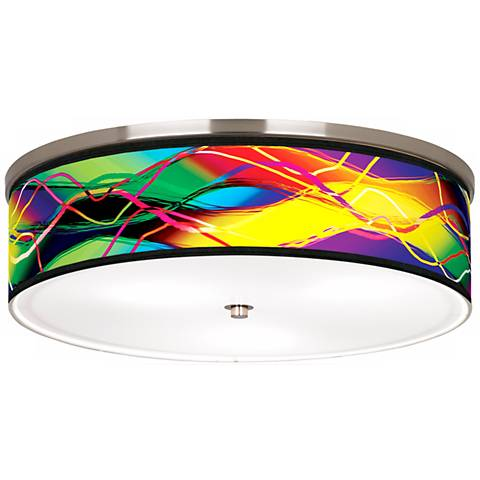 """Colors in Motion Nickel 20 1/4"""" Wide Ceiling Light"""
