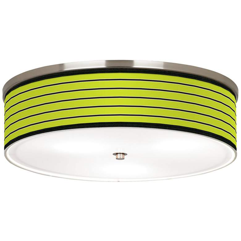"Bold Lime Green Stripe Nickel 20 1/4"" Wide"