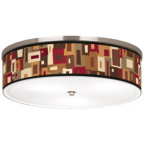 "Earth Palette Nickel 20 1/4"" Wide Ceiling Light"