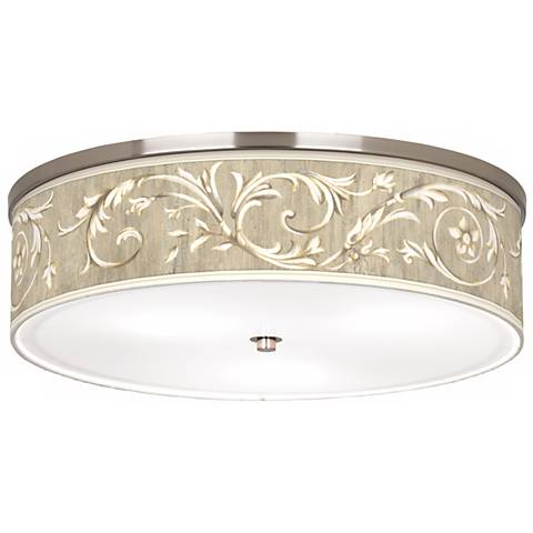 "Laurel Court Giclee Nickel Finish 20 1/4"" Wide Ceiling Light"
