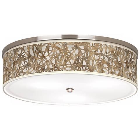 Organic Nest Giclee Nickel Finish Energy Efficient Ceiling Light