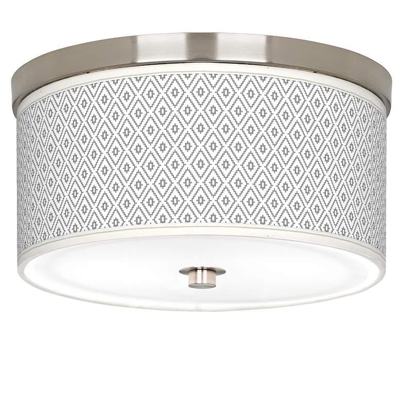 "Diamonds Giclee Nickel 10 1/4"" Wide Ceiling Light"
