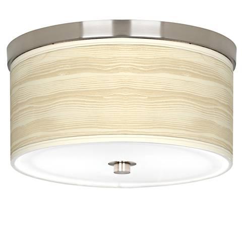"""Birch Blonde Giclee Nickel 10 1/4"""" Wide Ceiling Light"""