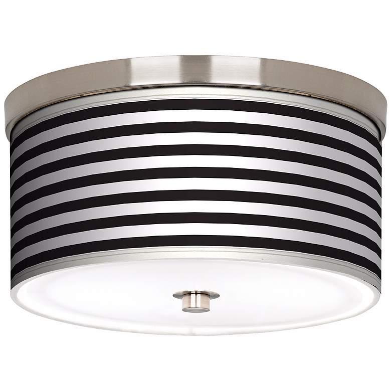 """Black Horizontal Stripe Nickel 10 1/4"""" Wide Ceiling"""
