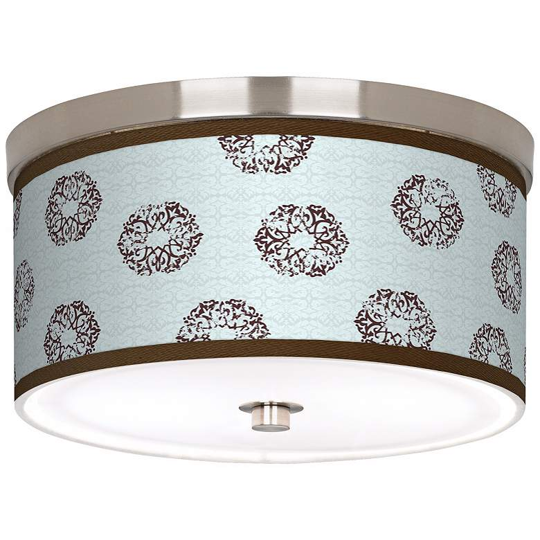 "Weathered Medallion Giclee 10 1/4"" Wide Ceiling Light"