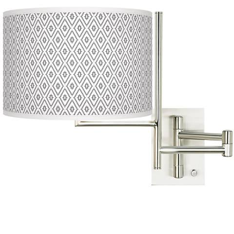 Tempo Diamonds Plug-in Swing Arm Wall Light