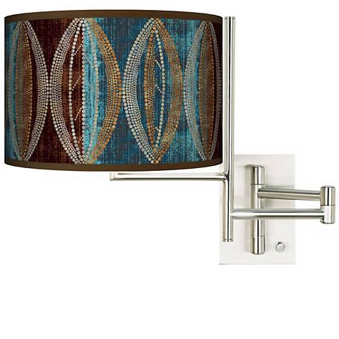 Stacy Garcia Pearl Leaf Peacock Plug-in Swing Arm Wall Light