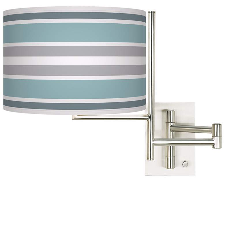 Multi Color Stripes Brushed Nickel Swing Arm Wall