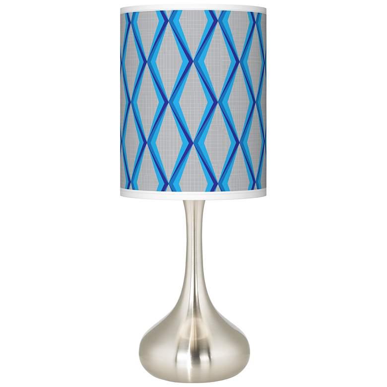 Bleu Matrix Giclee Droplet Table Lamp