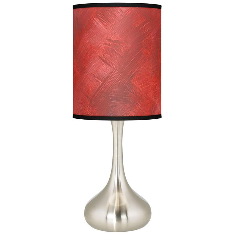 Red Abstract Giclee Droplet Table Lamp