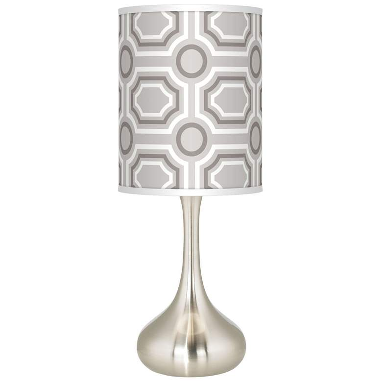 Luxe Tile Giclee Droplet Table Lamp