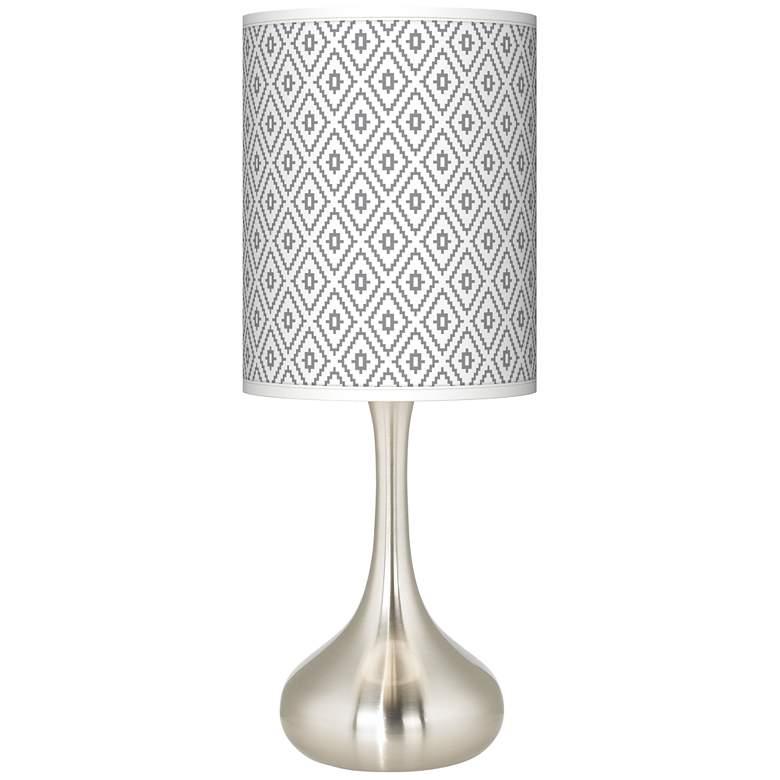 Diamonds Giclee Droplet Table Lamp