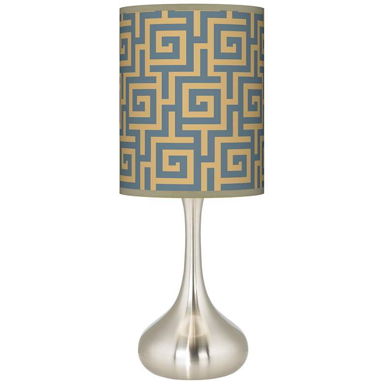 Greek Key Storm Giclee Droplet Table Lamp