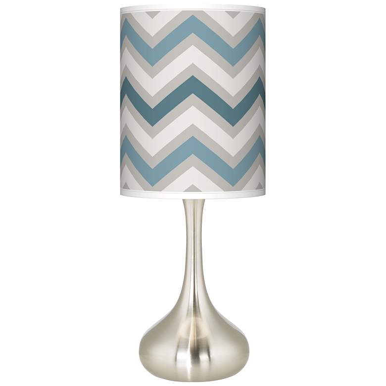 Wave Zig Zag Giclee Droplet Table Lamp