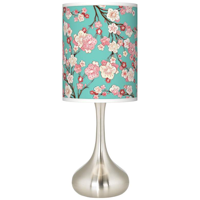 Cherry Blossoms Giclee Droplet Table Lamp