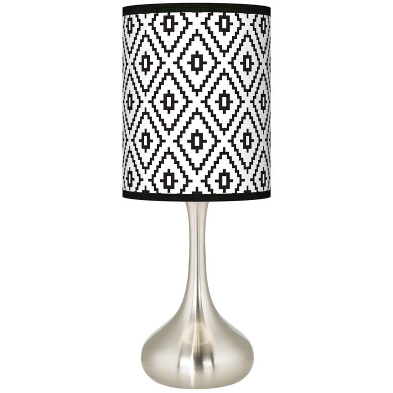 Black Diamonds Giclee Droplet Table Lamp